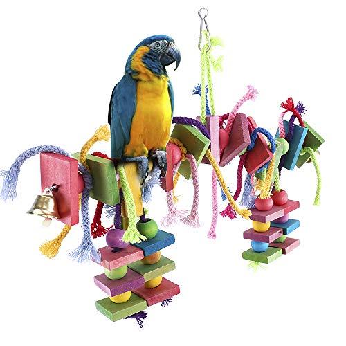 Dightyoho Columpio para Pájaro, Juguete de Madera para Loros Papagayos para Masticar