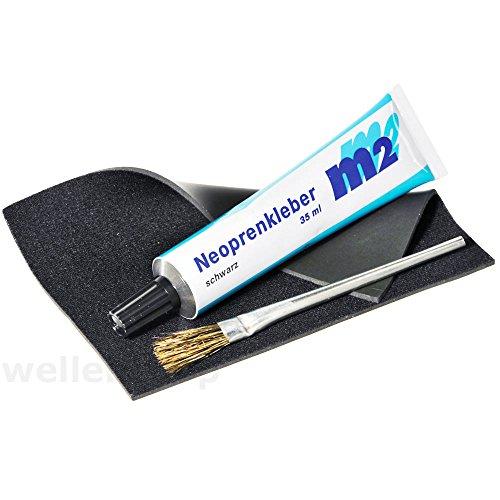 Neopren Reparatur Flicken Schwarz für Neoprenanzug Taucheranzug Schuhe