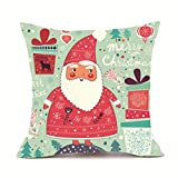ubabamama quadratisch Santa Claus Kopfkissen, Merry Christmas Kissen super Kaschmir Sofa Kissenbezug Home Decor D