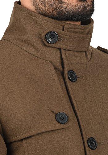 Blend Warren Herren Winter Mantel Wollmantel Lange Winterjacke mit Stehkragen, Größe:L, Farbe:Camel Brown (71517) - 5