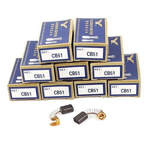 sourcing map 10par Escobillas de carbón del Motor para Makita CB51 11,8mm...