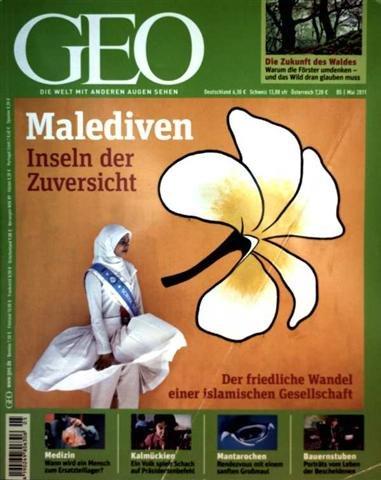 Produktbild GEO Magazin 2011, Nr. 05 Mai - Malediven Inseln der Zuversicht (Der friedliche Wandel einer islamischen Gesellschaft), Fotoprojekt Wohnlandschaft, Deutscher Wald, Organspende, Schach in Kalmückien