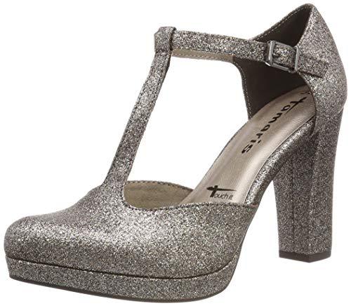 Tamaris Damen 1-1-24409-22 970 Slipper, Gold (Platinum Glam 970), 38 EU