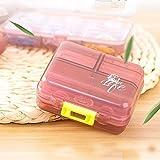 Xiduobao - Porta-pillole  settimanale, qualità di stile, digrande capacità, mini porta-pillole da viaggio per avere le tue medicine sempre con te Red(03)
