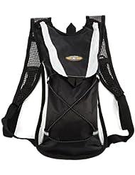 Tsing Sac à dos Vélo Sport d'hydratation étanche pour Randonnée Alpinisme Camping Escalade Cyclisme Moto 2L Noir (Le sac d'eau non inclus)