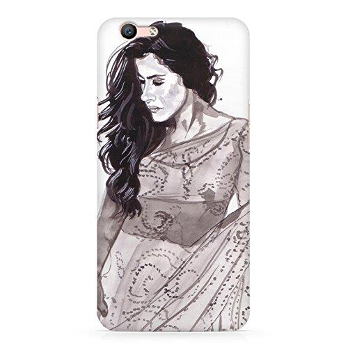 Kajol in saree sketch design Oppo F1S all side printed hard back...
