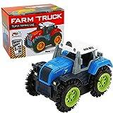 Amazon STY Auto Spielzeug für 2 Jahre 6 Jahre alten Jungen, elektrische Stunt Auto und Flip Spielzeugauto Kinder & Kinder Jungen und Mädchen, Geschenke gift (Blau)