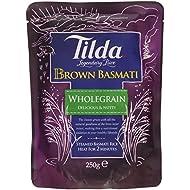 Tilda Steamed Wholegrain Brown Basmati Rice, 250g