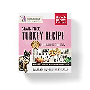 Honest Kitchen The Grace Grain Free Cat Food - Natural Human Grade Dehydrated Cat Food, Turkey, 2 lbs (Makes 6 lbs)
