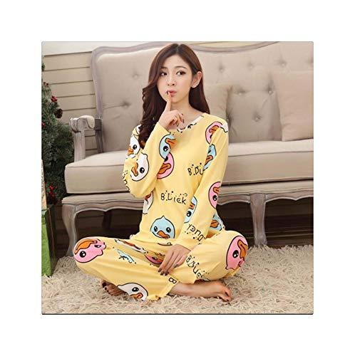 RORIESD& New Listing Foply 2019 Autumn Pyjamas Women Carton Cute Pijama Pattern Pajamas Set Thin Pijamas Mujer Sleepwear 90S Wholesale 6 XL (2019 Halloween Ideen Make-up)