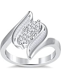 Silvernshine 3.5Ct Round Cut Sim Clear Diamonds 14K White Gold Plated Engagement & Wedding Ring