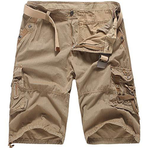 Cargo Shorts Herren Beiläufig Ladung Draussen Solide Gestreift Tasche Strand Arbeit Kurze Hose Hose Boot Fit Cord Hose