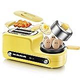 Kitzen Toast e uovo due fette tostatrice e Egg Maker, colazione croissant arrosto completamente automatico 6 volte la temperatura 1080 W - giallo stile di vita di lusso