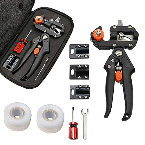 grafting Tape Included Elegant And Sturdy Package Contemplative Kindsgoods Professional 3 Blade Omega-type V-type U-type Grafting Pruner Black Color