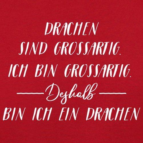 Ich Bin Grossartig - Drachen - Herren T-Shirt - 13 Farben Rot