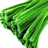 20 Draht, Pfeifenreiniger 6 mm Länge 30cm CHENILLE, grün