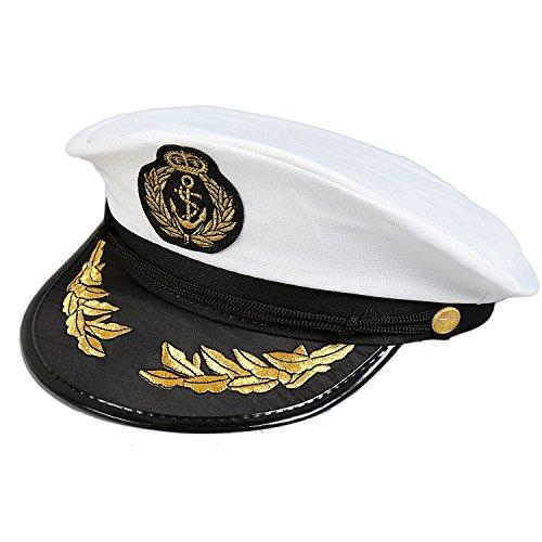 (Eine Größe Erwachsene Yacht Captain Hat Kostüm Zubehör)