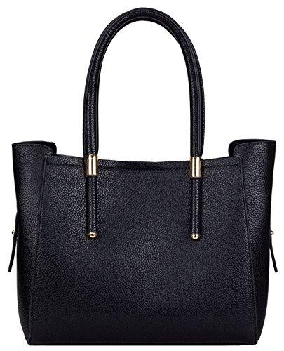 Kukubird Jennie Ecopelle Oro Fibbia Tracolla Handbag Black
