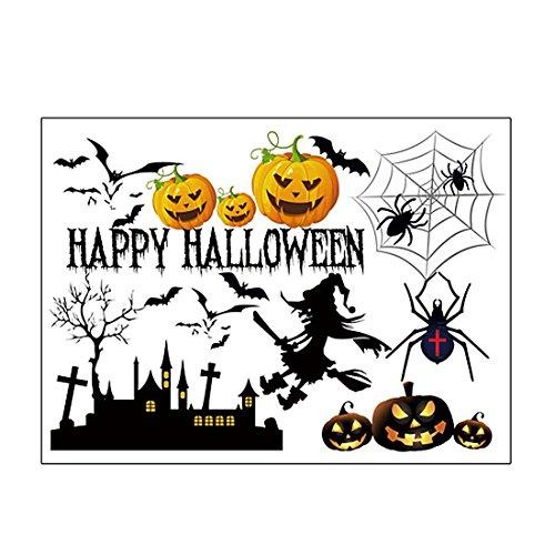 fablcrew Halloween ab Hexe Kürbis Spinne Fledermaus Muster Tapete Aufkleber Home Party Art Decor
