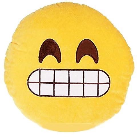 Desire Deluxe® Süßes Smiley Emoticon Kissen Käse Lächeln