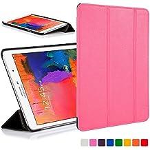 Forefront Cases funda de piel con tapa y función de apagado automático con función de encendido para 25,65 cm Samsung Galaxy Tab Pro - Black_P rosa rosa Galaxy Tab Pro 8.4