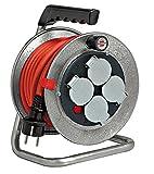 Brennenstuhl Enrouleur Cable Electrique Professionnel Silver Baby 10 m, (IP 44, Très...