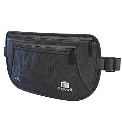 Money Belt for Travel Hidden - Durable & Flexible Cutting-Edge RFID Travel Document Holder Waist Bag - Multi-Layered Protection Travel Pouch - Premium Quality Passport Wallet Cover for Men & Women