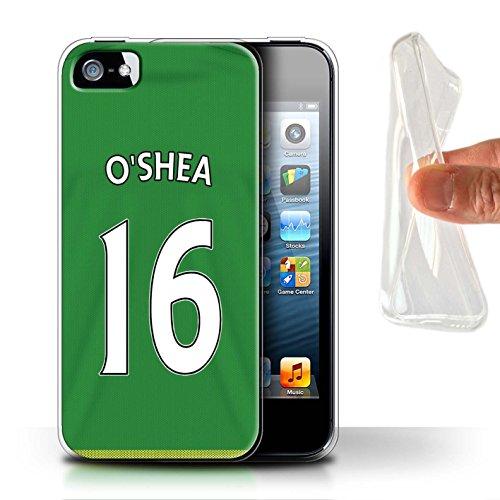 Offiziell Sunderland AFC Hülle / Gel TPU Case für Apple iPhone 5/5S / Pack 24pcs Muster / SAFC Trikot Away 15/16 Kollektion O'Shea