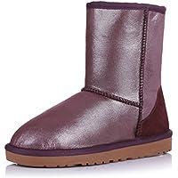 Ladies snow boots/Stivali di pelliccia di pecora/Perla stivali/ scarpe/Tendine di manzo antiscivolo Stivali alla fine (Classic Short Pelle Di Pecora)