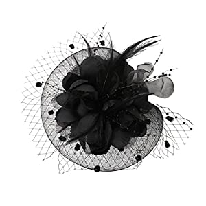 MagiDeal Fascinator Haar Clip Haar Accessoire Tea Party Kopfbedeckung