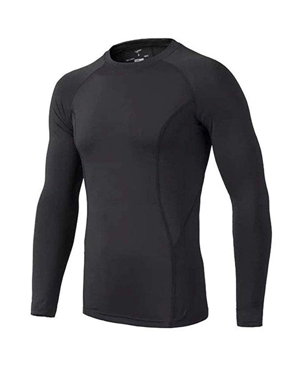 BUYKUD Kids' Boys Long Sleeve Base Layer Compression Underwear Athletic Shirt Tights Top & Bottom Set 2