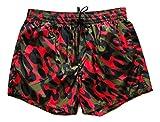 Dsquared Costume da Bagno Uomo Boxer Corto D7B641400.600 Verde Arancione Nero tg. 52