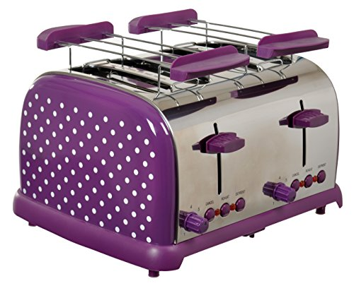 Team-Kalorik-Group TKG TO 1009 PWD 4-Scheiben-Toaster im zeitlosen Retrolook