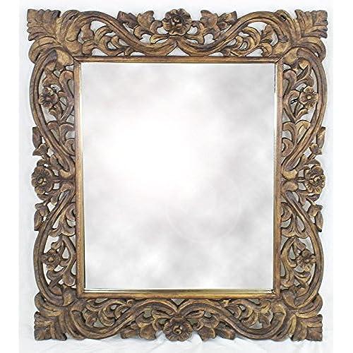 Perfect Dark Wood Mirror: Amazon.co.uk GU14