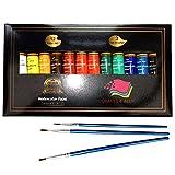 Aquarelle Set de peinture par Crafts 4Tous les 12Premium Qualité Art Kit de peinture à l'aquarelle pour artistes, les étudiants et les débutants–Idéal pour portrait et paysage peintures sur toile