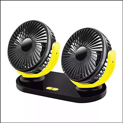 PILIBEIBEI USB-Lüfter, Mini-Lüfter, tragbarer Lüfter, um 360 Grad drehbarer Auto-Lüfter, großer LKW, tragbarer Einstellbarer Auto-Außenlüfter, schwarz