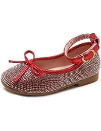 daabbdf174f60 Ouneed- EU 20-29 Bebe Fille Chaussures Enfant Fille Ballerine de Princess  Diamand Chaussure