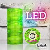 Hellmet LED Bangerz 59mm - LED Minicruiser Rollen für das Penny Board - Leuchtrollen - Neon Grün