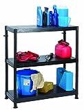 Garland - Estantería de plástico (ultrarresistente. 3 estantes, 90 x 40 x 97 cm)
