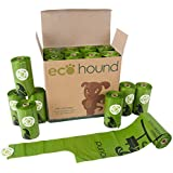 Ecohound 240 SMALL Dog Poo Bags With Handles | Biodegradable Dog Waste Bag Rolls | Poop Bags