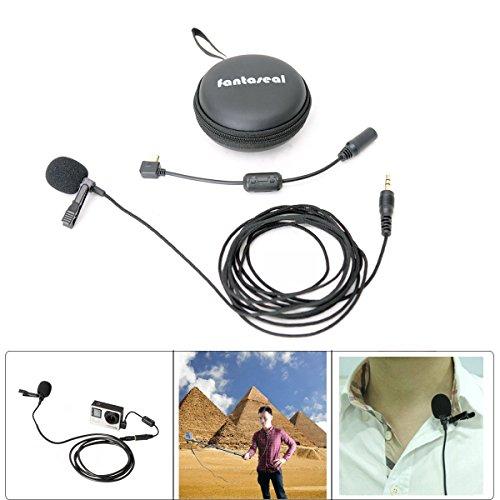 Fantaseal® Lavalier Mic für GoPro Microphone GoPro Mic Omnidirectional Condenser Microphone w/ Lavalier Lapel Collor Clip für GoPro Hero 4 / GoPro Hero 3+/ GoPro Hero3