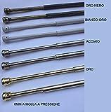 Coppia astine a molla per tende 8 mm bastoni scorritenda per finestre 3 colori - Oro - 30/40 cm