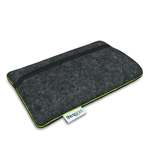Stilbag Filztasche 'FINN' für Apple iPhone 7 plus - Farbe: hellgrau/apfelgrün anthrazit/apfelgrün