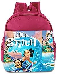 Kids Lilo & Stitch School Backpack Cute Children School Bag Pink