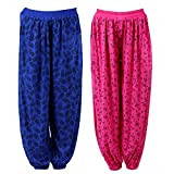 NumBrave Pink and Blue Harem Pants For W...