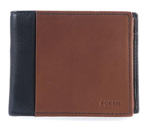 Fossil Geldbörse WARD bifold Braun Blau ML3919-400 Herren Portemonnaies Leder