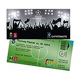 Einladungskarten Geburtstag als Fußballticket | 20 Stück | Einladungen Karte | Einladungskarte Kindergeburtstag Junge | Druck Ihrer Texte inkl.