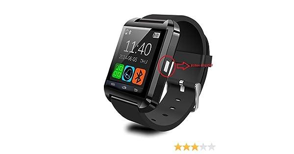Montre connectée Téléphone Technologie BT Smart Watch Intelligente Fonctions Appels SMS Musique Altimètre Baromètre Podomètre Réveil Vibration Thermomètre ...