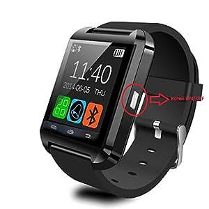 Montre connectée Téléphone Technologie BT Smart Watch Intelligente Fonctions Appels SMS Musique Altimètre Baromètre Podomètre Réveil Vibration ...