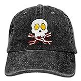 Eggs Bacon Skull Crossbones Unisex Adult Adjustable Cowboy Dad Hat